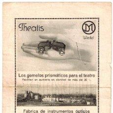 Catálogos publicitarios: CATALOGO GEMELOS PRISMÁTICOS WEDEL. J. D. MOLLER AÑOS 10 - 20 LENTES ÓPTICA OPTOMETRIA OFTALMOLOGÍA. Lote 108576731