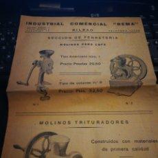 Catálogos publicitarios: INDUSTRIAL COMERCIAL REMA BILBAO.. Lote 108749243