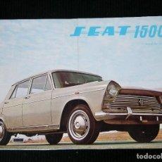 Catálogos publicitarios: SEAT 1500 CARACTERISTICAS PRINCIPALES VER FOTO ADICIONAL. Lote 109250115