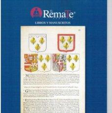 Catálogos publicitarios: CATÁLOGO SUBASTA JUEVES 16 DE FEBRERO DE 2017. EL REMATE SUBASTAS. LIBROS Y MANUSCRITOS.. Lote 110410659