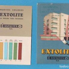 Catálogos publicitarios: CATÁLOGO DE PINTURAS. EXTOLITE. ASFALTEX, S.A. BARCELONA. JUAN GUARDIA CALLEJÓN. TARRAGONA. Lote 110626595