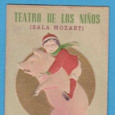 Catálogos publicitarios: TEATRO DE LOS NIÑOS (SALA MOZART). BARCELONA. BASA Y PAGÉS. CASTELLS-CASAS, ERNESTO ROCA GIMÉNEZ. Lote 110646491