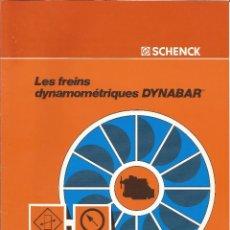 Catálogos publicitarios: BANCOS DE PRUEBAS DE MOTORES SCHENCK. Lote 111302183
