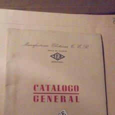 Catálogos publicitarios: CATALOGO GENERAL ,MANUFACTURAS ELECTRICAS T.E.R. BARCELONA ILUSTRADO , PLANCHAS , CAFETERAS . Lote 111614627