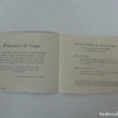 Catálogos publicitarios: CATÁLOGO - EXPOSICIÓ DE GOIGS - PARROQUIA DE SANT JUST I SANT PASTOR - ANYS 1968. Lote 111699391