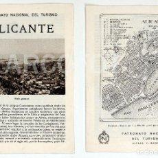 Catálogos publicitarios: ALICANTE - PATRONATO NACIONAL DEL TURISMO. Lote 111965379