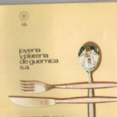Catálogos publicitarios: CATÁLOGO DE JOYERÍA Y PLATERÍA DE GUERNICA S.A. 1969. Lote 111980555