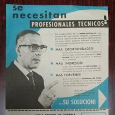 Catálogos publicitarios: PUBLICIDAD ORIGINAL AÑOS 60: CURSOS DE FORMACION A DISTANCIA (INSTITUTO AMERICANO MADRID). Lote 112105695