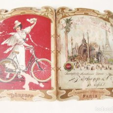 Catálogos publicitarios: PUBLICIDAD MODERNISTA Y TROQUELADA DE 1900 DE LAS BICICLETAS DURKOPP $ CIA. Lote 112520051