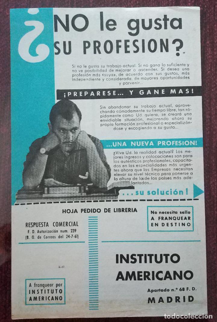 PUBLICIDAD ORIGINAL AÑOS 60: CURSOS DE FORMACION A DISTANCIA (INSTITUTO AMERICANO MADRID) (Coleccionismo - Catálogos Publicitarios)