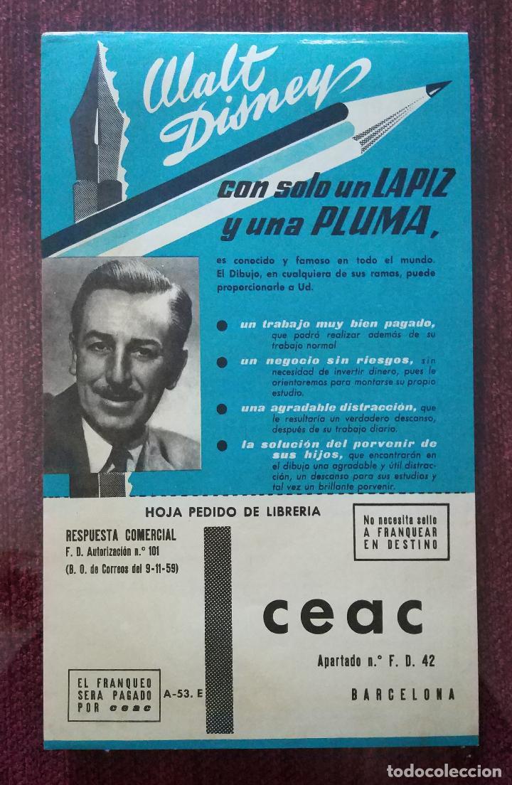 PUBLICIDAD ORIGINAL AÑOS 60: CURSOS DE FORMACION A DISTANCIA (CEAC ) - CON FOTOGRAFIA DE WALT DISNEY (Coleccionismo - Catálogos Publicitarios)