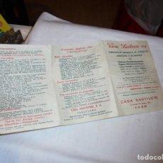 Catálogos publicitarios: FOLLETO PUBLICITARIO CASA SANTIVERI LEON. Lote 112650551