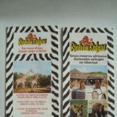 Cataloghi pubblicitari: 2 RIOLEÓN SAFARI GRAN RESERVA AFRICANA ANIMALES SALVAJES EN LIBERTAD (AÑOS 70).. Lote 112897639