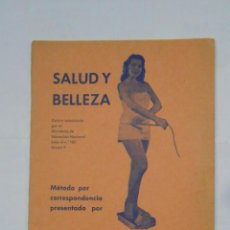 Catálogos publicitarios: SALUD Y BELLEZA. METODO PRESENTADO POR SANSON INSTITUT. BARCELONA. TDKP1. Lote 113007719