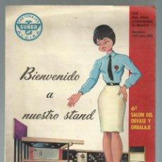 Catálogos publicitarios: CARTONAJES SUÑER, ALCIRA. CATALOGO. XXX FERIA OFICIAL Y INTERNACIONAL DE MUESTRAS. BARCELONA, 1962. Lote 113396095