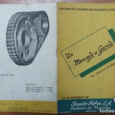 Catálogos publicitarios: CATALOGO FABRICA BENITO JOFRE SA CADENAS DE PRECISION MATARO 1953 (BARCELONA). Lote 113486031