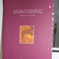 Catálogos publicitarios: EXPOSICION DE ARTE DE GONZALO GONZALEZ, IMAGENES PARA UNA VISION.ATENEO DE LA LAGUNA 1996.CANARIAS. Lote 113670295