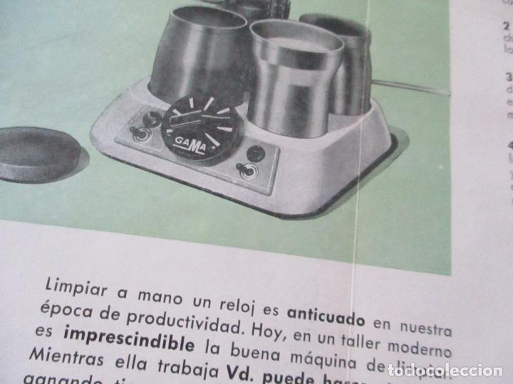 Catálogos publicitarios: FOLLETO DE: GAMA, MANUFACTURAS RELOJERAS F. GARCÍA Y Cia.- TRÍPTICO.- 21X9.5 CM.-(CERRADO) - Foto 3 - 113845119