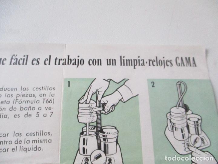 Catálogos publicitarios: FOLLETO DE: GAMA, MANUFACTURAS RELOJERAS F. GARCÍA Y Cia.- TRÍPTICO.- 21X9.5 CM.-(CERRADO) - Foto 4 - 113845119