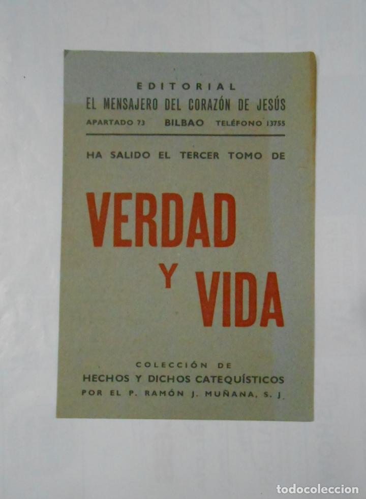 FOLLETO PUBLICITARIO DE LA REVISTA VERDAD Y VIDA. HECHOS Y DICHOS CATEQUISTICOS. TDKP1 (Coleccionismo - Catálogos Publicitarios)