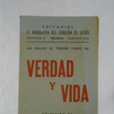 Catálogos publicitarios - FOLLETO PUBLICITARIO DE LA REVISTA VERDAD Y VIDA. HECHOS Y DICHOS CATEQUISTICOS. TDKP1 - 113993831