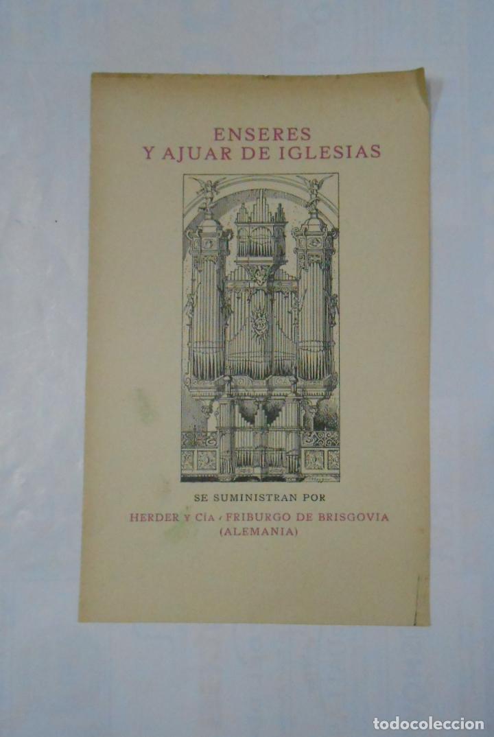 FOLLETO PUBLICITARIO ENSERES Y AJUAR DE IGLESIAS HERDER Y CIA FRIBURGO DE BRISGOVIA. ALEMANIA. TDKP1 (Coleccionismo - Catálogos Publicitarios)