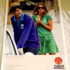 Catálogos publicitarios: FRANKLIN MARSHALL - ANUNCIO PUBLICITARIO EXTRAÍDO DE REVISTA - 29X21CM. Lote 114037763