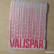Catálogos publicitarios: 2 LIBRETAS COMPLETAS DE REGALOS VALISPAR A. 60. Lote 114113991