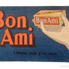 Catálogos publicitarios: CATÁLOGO PUBLICITARIO DE JABÓN LIMPIADOR BON AMI. AÑOS 20. Lote 114124471