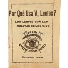 Catálogos publicitarios: CATÁLOGO PUBLICITARIO VIGORIZADOR DE LA VISTA JIN. ÓPTICA OPTOMETRIA OFTALMOLOGÍA. AÑOS 30. Lote 114124759