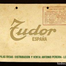 Catálogos publicitarios: CATÁLOGO PUBLICIDAD LISTA DE PRECIOS DE PILAS SECAS TUDOR. 1953 - 1954. Lote 114125395