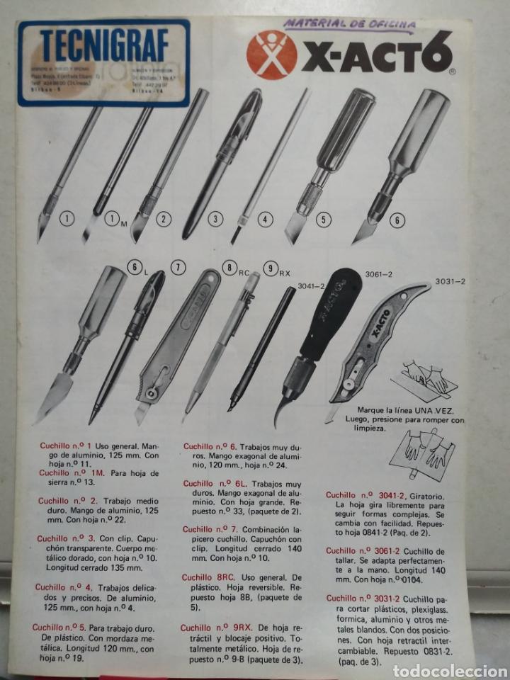 x-acto. grafinta. madrid. - Comprar Catálogos publicitarios antiguos ...