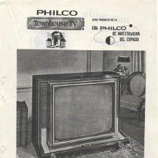 Catálogos publicitarios: PUBLICIDAD 1964 HOJA REVISTA ANUNCIO TELEVISOR TELEVISIÓN TV PHILCO - PROYECTOR EUMIG MARK S. Lote 114640331