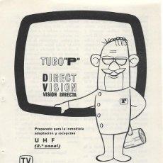 Catálogos publicitarios: PUBLICIDAD 1964 HOJA REVISTA ANUNCIO TELEVISOR TELEVISIÓN TV REYFRA PREPARADO PARA UHF. Lote 114642475