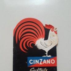 Catálogos publicitarios: CINZANO COCKTAILS. Lote 114770407