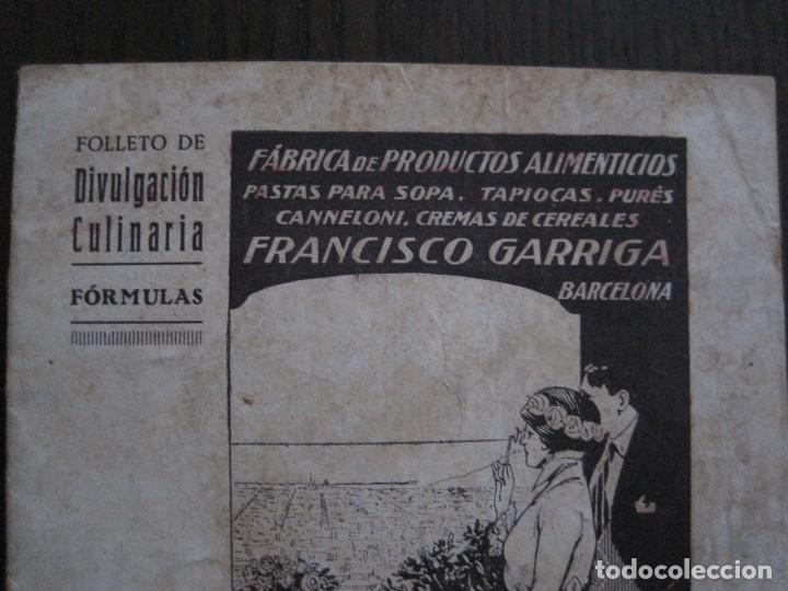 Catálogos publicitarios: FABRICA PRODUCTOS ALIMENTICIOS -FRANCISCO GARRIGA - BARCELONA - FORMULAS -VER FOTOS-(V-13.772) - Foto 3 - 114832095