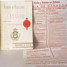 Catálogos publicitarios: FERIA Y FIESTAS DE ESTEPA. 1955 (PROGRAMA Y CARTEL PLEGADO) . Lote 114951255