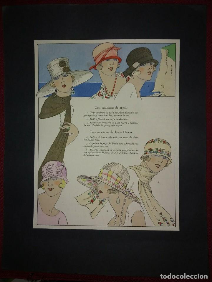 4 láminas Gorros y Sombreros iluminadas a mano - 114962139