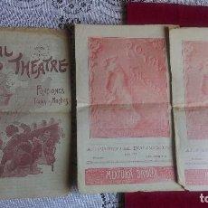 Catálogos publicitarios: ST-42.- LOTE DE .- 3.- ROYAL THEATRE , DIFERENTES DIAS , AÑO 1905.- BUENOS AIRES .- . Lote 115118931