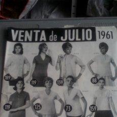 Catálogos publicitarios: CATALOGO VENTA POR CORREO - JULIO 1961 - GALERIAS PRECIADOS. Lote 115173711