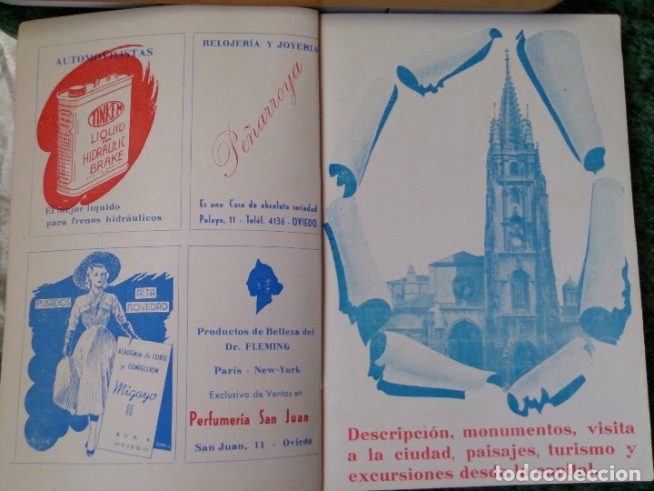 Catálogos publicitarios: Pequeño libro años 40 Guía de tiendas y teléfonos de Oviedo - Foto 2 - 115873015