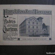 Catálogos publicitarios: CATALOGO LICOR CHARTREUX - CHARTREUSE - TARRAGONA - FABRICA UNION AGRICOLA -VER FOTOS - (V-13.997). Lote 116381395