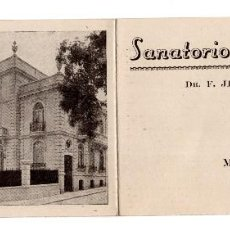 Catálogos publicitarios: FOLLETO PUBLICITARIO DEL SANATORIO DE NUTRICIÓN - MADRID - AÑOS 40 . Lote 126499152