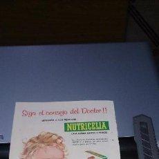 Catálogos publicitarios: SAQUITO Y SAN Y NUTRICELIA - 1961 HOJA PUBLICIDAD DE REVISTA. Lote 117131883