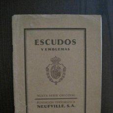 Catálogos publicitarios: ESCUDOS Y EMBLEMAS - FUNDICION TIPOGRAFICA NEUFVILLE -CATALOGO -VER FOTOS -(V-14.129). Lote 117760595
