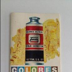 Catálogos publicitarios: CATALOGO DE COLORES AL OLEO. TITAN. AÑOS 70. W. Lote 118172007