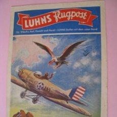 Catálogos publicitarios: LUHNS FLUGPOST. LIBRETA PUBLICIDAD PARA NIÑOS DE JABON LUHNS. ALEMANIA. AÑOS 40.. Lote 118214731
