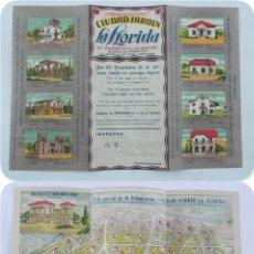 Catálogos publicitarios: TRIPTICO DE PUBLICIDAD DE URBANIZACIONES CIUDAD JARDIN LA FLORIDA, STA. PERPETUA DE MOGUDA, BARCELON. Lote 118235107
