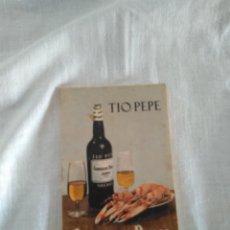 Catálogos publicitarios: TIO PEPE . CUADERNO DE NOTAS PARA CAMAREROS. AÑOS 50. Lote 118361847