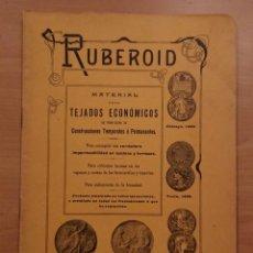 Catálogos publicitarios: RUBEROID, CUBIERTAS PARA VAGONES DEL FERROCARRIL. BENÍTEZ, GALLEGO Y CIA, MADRID . Lote 118499247